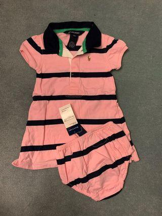 Ralph Lauren 小女孩兩件式洋裝