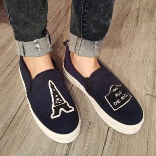 🈹韓國藍色厚底休閒鞋