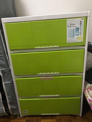 四層膠櫃 (日本製)