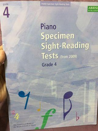 🚚 ABRSM Piano Specimen Sight-Reading Tests Grade 4