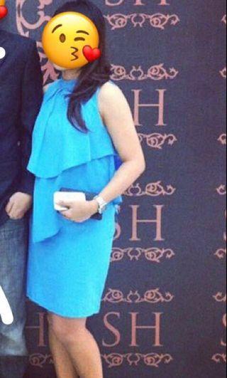 Dress Merk GAUDI - Blue (preloved) #gaudi