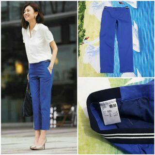 UNIQLO Smart Style Ankle Length Pants (Blue S)