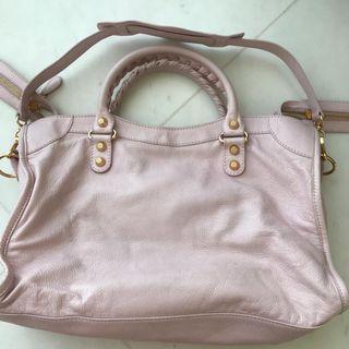 🚚 Balenciaga City Ladies Handbag Used with Signed dustbag