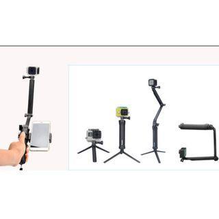 原廠品質 防水三向棒(有小裂不影響使用) 自拍 手機 摺疊棒 運動相機 小蟻 gopro全系
