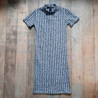 Gray Ribbed Dress