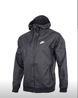 Brand new Nike black windbreaker / windrunner Size M men's