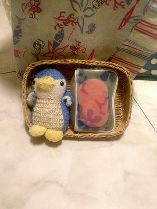 🚚 🐧小企鵝🐧沐浴組(含可愛收~納~小藤籃)