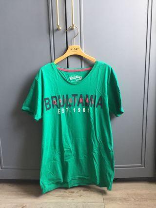 Bang bang t shirt wanita hijau
