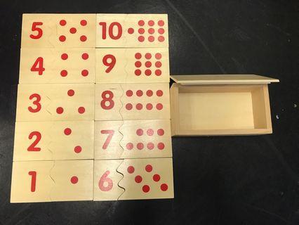 Montessori Numbers Learning Tools 木制玩具