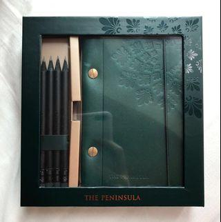The peninsula hand crafted leather notebook