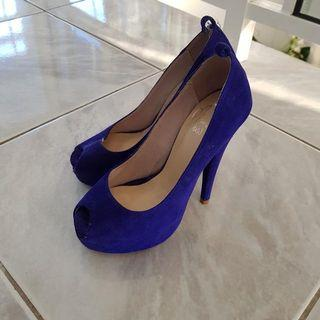Glamour Puss Royal Blue Heels