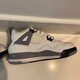 Nike Air Jordan 4 iv white / cement grey 11c