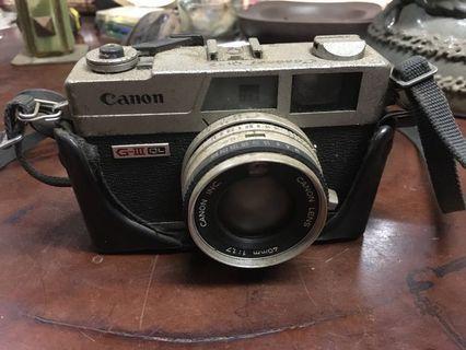 日本CANON原廠QL17 GIII 古董底片相機