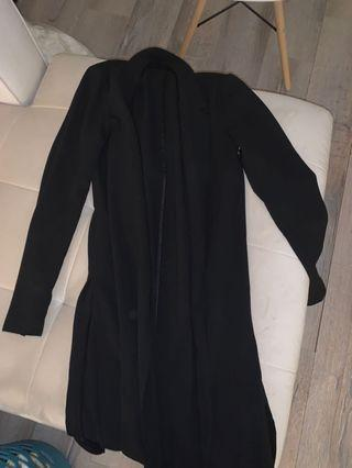 Long blazer overcoat