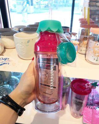 4/16門市直播開賣韓國星巴克2019Summer 冷水杯 草莓 馬克杯 橘子 保溫杯 攪拌棒