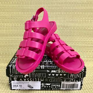 🚚 BN Mini Melissa Flox Pink Sandals Shoes US10 (2016)