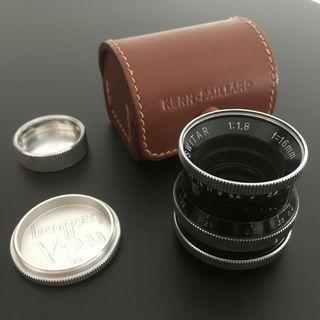 Vintage Kern Switar 16mm 1.8 c-mount lens (adaptable to M43 for BMPCC GH5 etc)
