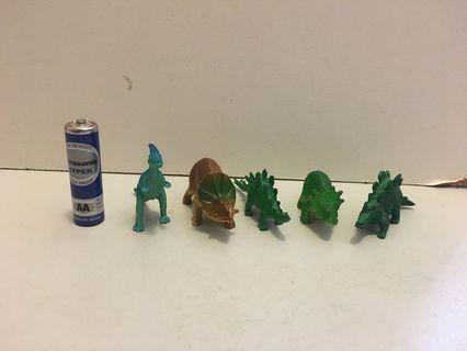 $5/5只 恐龍 玩具