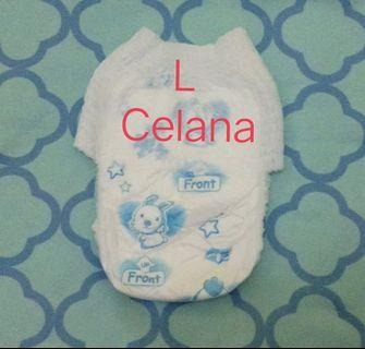 Popok bayi curah tanpa kemasan L