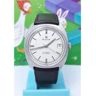 🚚 瑞士原裝寶路華BULOVA 日期顯示,原裝龍頭.不繡剛自動上練男錶