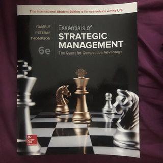 🚚 Essentials of Strategic Management (gamble peteraf thomson)