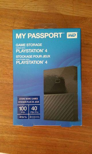 New WD 4TB Portable HDD Hard Disk Drive for PS4 ESPECIALLY designed for Gaming 4.0 TB external Western Digital 2.5""