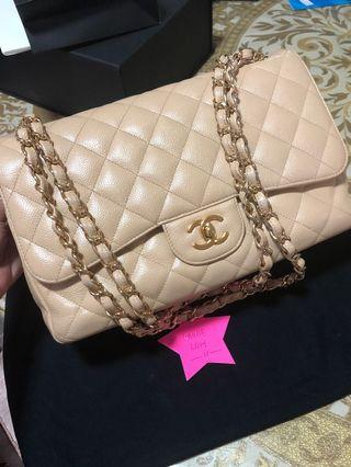 Chanel Classic Jumbo Beige with GhW. 15series .