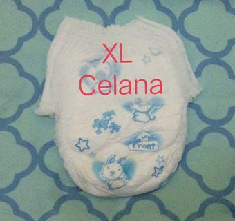 Popok bayi curah tanpa kemasan XL