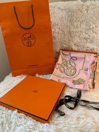 Authentic HERMES Silk Keys Les Cles Scarf 90