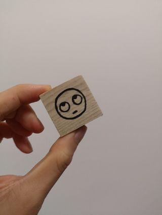 [手作印章、卡片] 反白眼 [Handmade stamp and card] rolling eyes