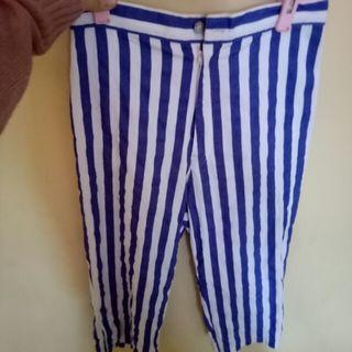 Pants Stripped Blue Celana Panjang