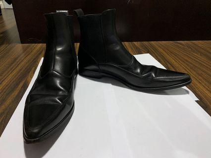 Dolce & Gabbana Men's Black Leather Boots 男裝黑色皮靴