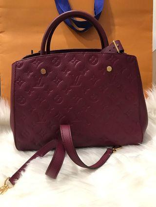 [FINAL 2680$]Louis Vuitton Montaigne MM in Empriente Leather