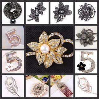 3for$10 rhinestone brooches | hijab Pin brooch |