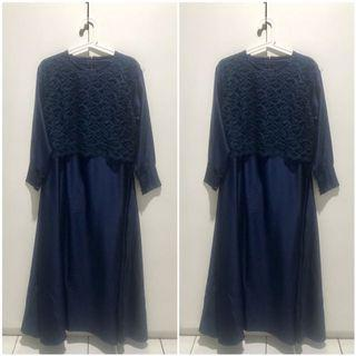 Gamis flare free size fit XL