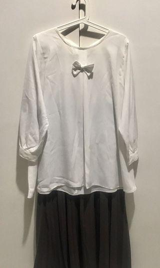 Blouse with skirt