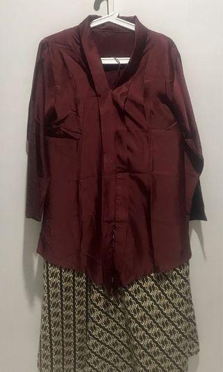 Top with batik kulot