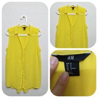 Tank top yellow H&M ori big size