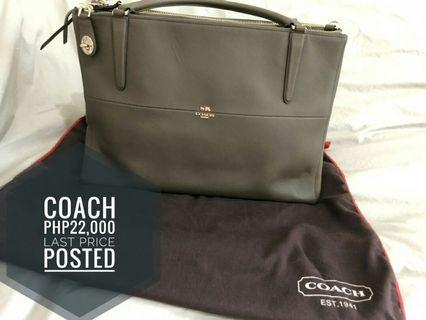 Authentic COACH Large Two-way Sling Bag
