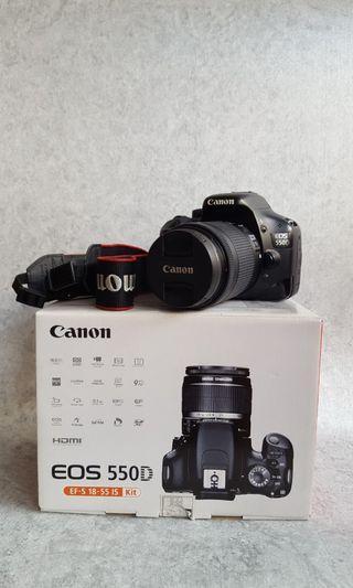 Canon EOS 550D + Lensa Kit 18-55m