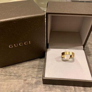 🚚 18k金 Gucci經典logo戒指