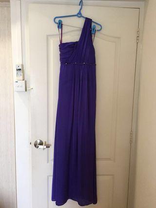 Purple Long Tonga Dress Evening Gown