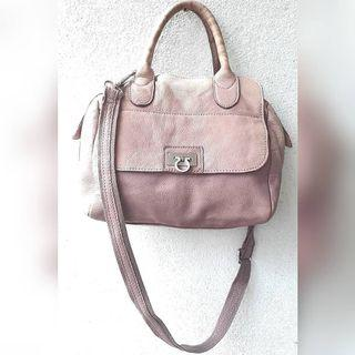 LILY ROSE GENUINE LEATHER 2 WAY BAG