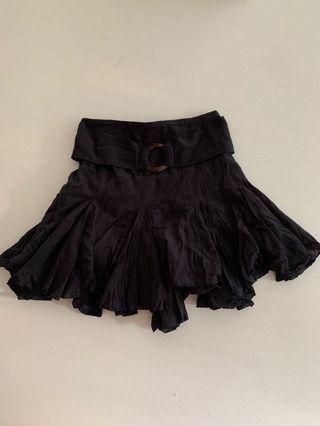 Sir the label linen skirt black