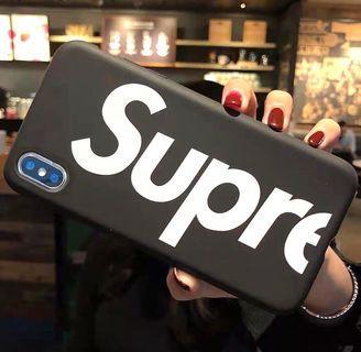 Supreme 黑色全包手機軟殼 Apple iPhone case