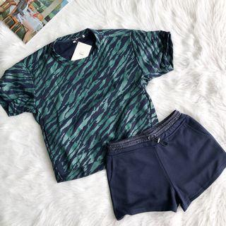 Luxe Green Sporty Top and Pants