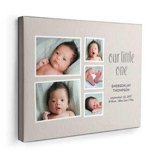 Newborn Baby Canvas Photo