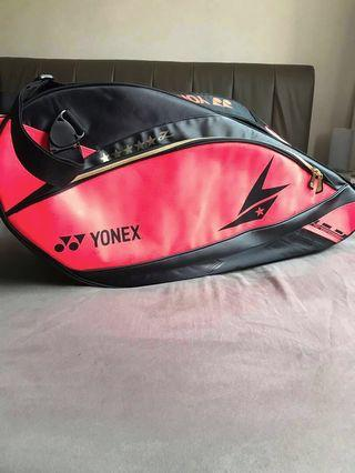 Yonex LIN DAN SUNR12LDTG BT6 Badminton Pro Racket Bag Bright Red (Authentic from Sunrise) Including Postage Fee