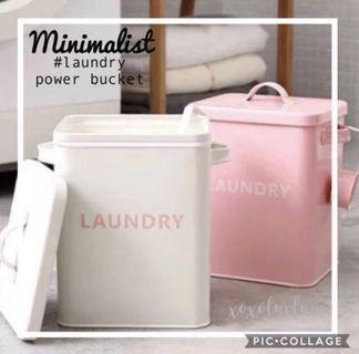 Brand New Laundry Powder Storage Tin