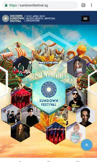 Sundown Festival 3 Day Pass (6 tickets)